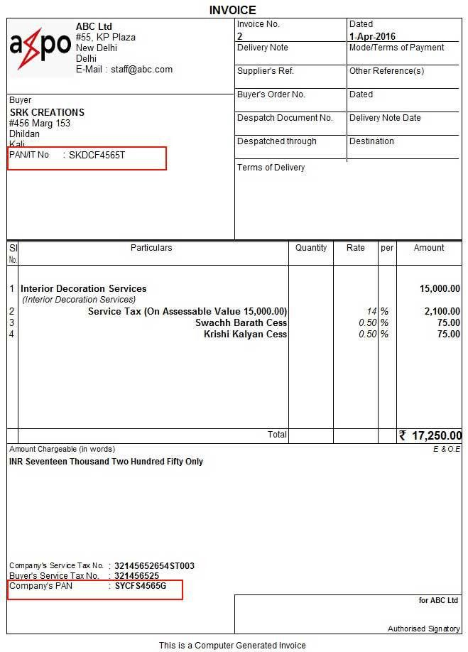 How to Print PAN in Invoice & How add PAN in Tally ERP 9