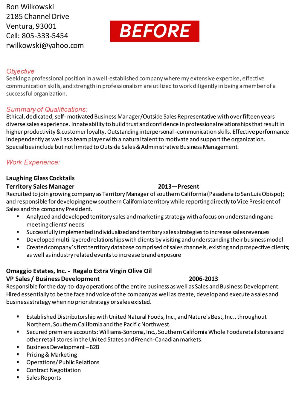Sample Resumes — Resume Scribes