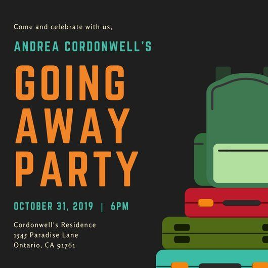 Colorful Luggage Farewell Party Invitation - Templates by Canva