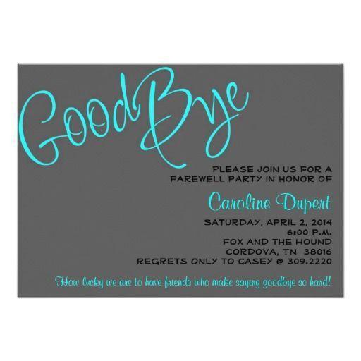 The 25+ best Farewell invitation card ideas on Pinterest ...