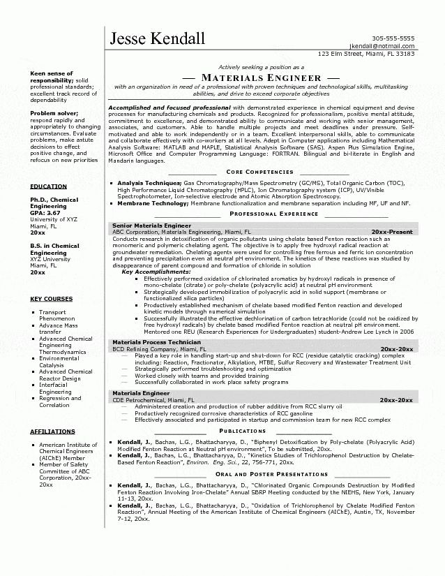 Download Materials Engineer Sample Resume | haadyaooverbayresort.com