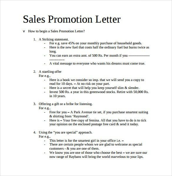 Sample sales promotion letter promotion letter 14 free samples sales promotion letter examples free online form templates spiritdancerdesigns Choice Image
