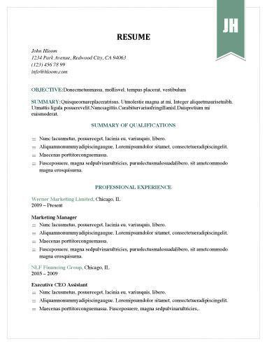 31 best resume format images on Pinterest | Resume format, Resume ...
