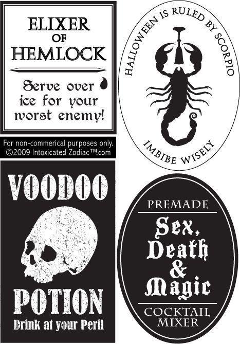 Best 10+ Halloween bottle labels ideas on Pinterest | Halloween ...