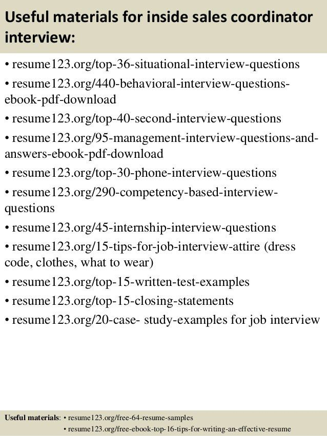 Top 8 inside sales coordinator resume samples