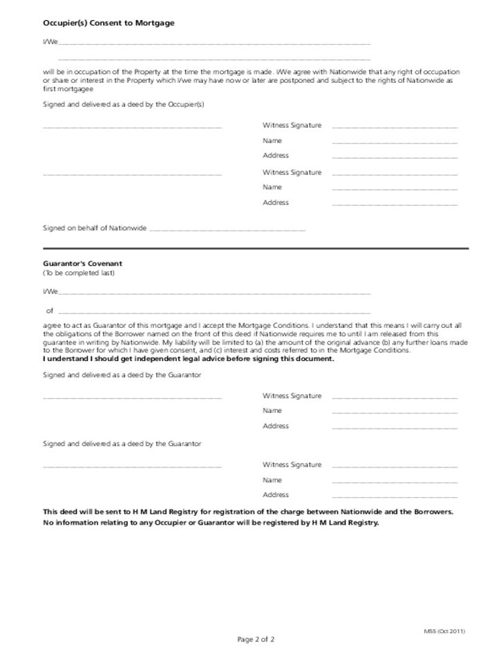 Mortgage Deed Template Free Download