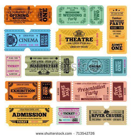 Circus Magic Show Entrance Vector Tickets Stock Vector 436110196 ...