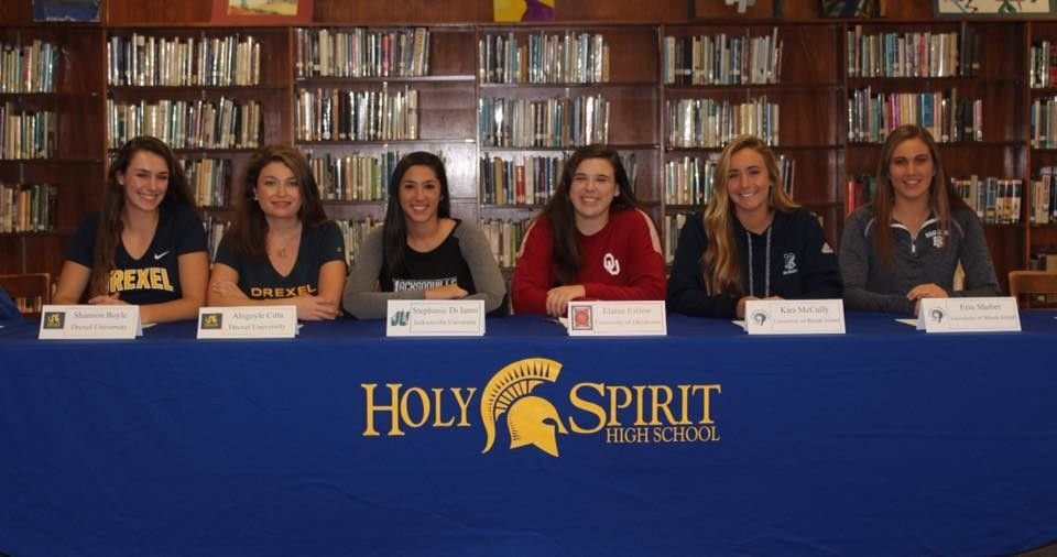 National Letter of Intent Signing Day – Girls Crew – Holy Spirit ...