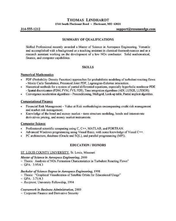 Grad School Resume Sample - Resume CV Cover Letter