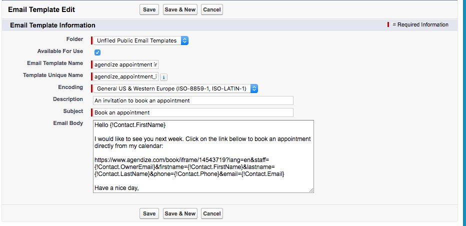 Sending Quick Appointment Invitations in Salesforce using Email ...