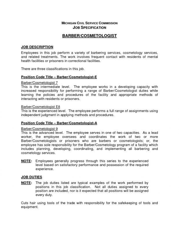 cover letter Cosmetologist Description cosmetologist job ...