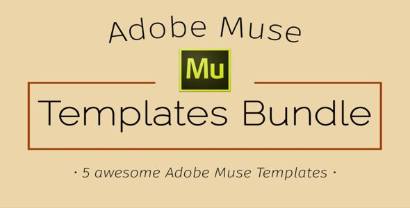 Adobe Muse Templates Bundle – Creativemarket 375734 Free Download ...