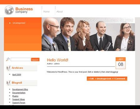 Download Business Wordpress Themes themes and templates