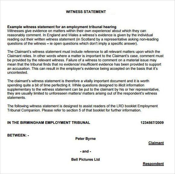 Sworn Statement Example. An Affidavit Is A Sworn Statement What Is ..