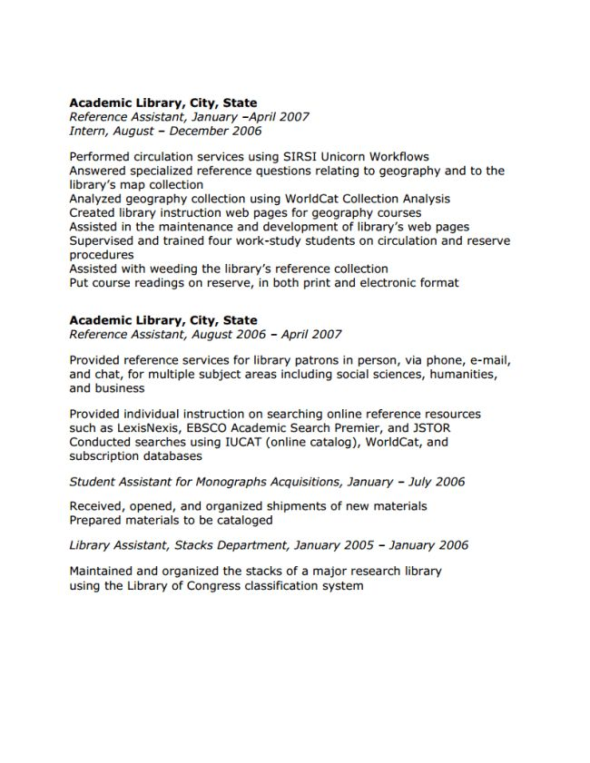 librarian application letter this is a sample job application ...