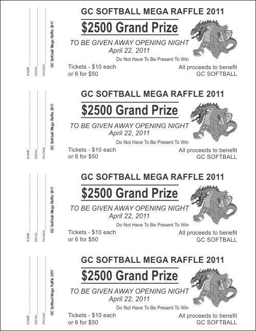 Raffle Ticket Templates - Large Raffle Ticket Templates - 1