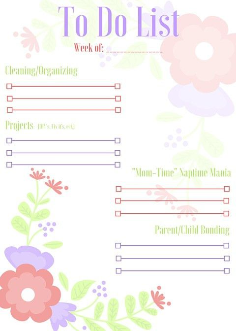 FREE PRINTABLE: Categorized Weekly To Do List – Relentless at Heart