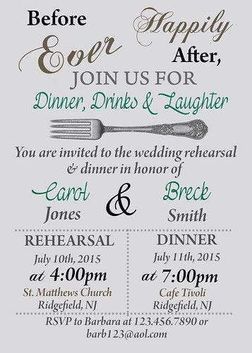 Printable Rehearsal Dinner Invitations - iidaemilia.Com