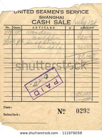 United Seamans Service Shanghai Cash Sale Stock Illustration ...