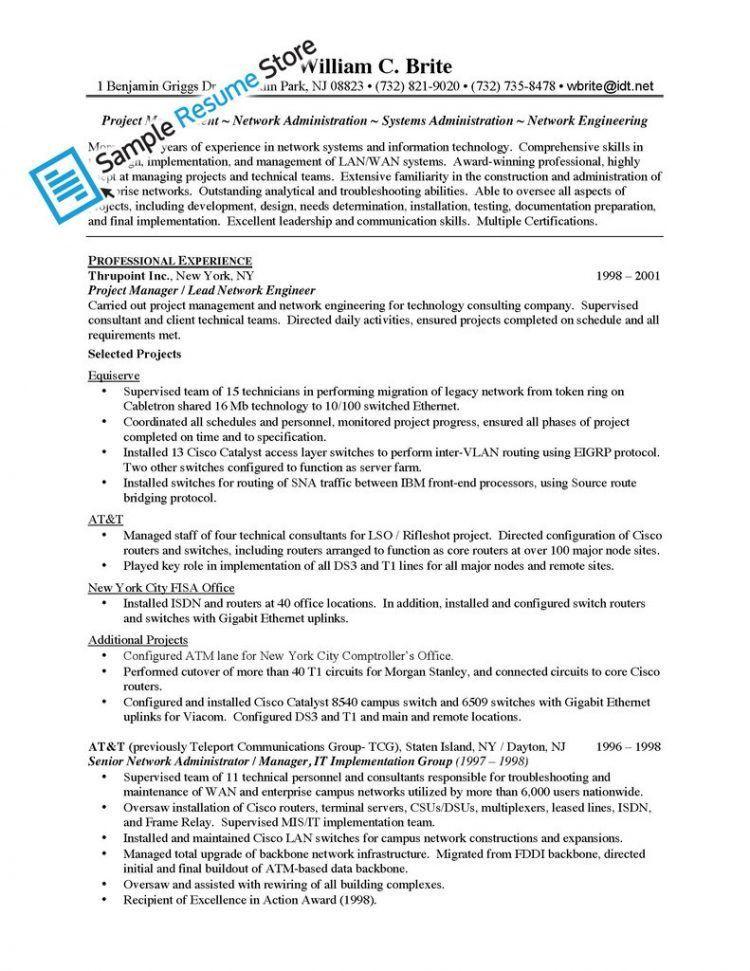 network engineer sample resume network engineer resume sample