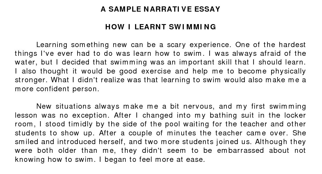 Narrative essay examples for high school - our work