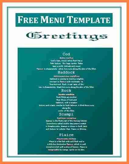 Free xmas menu templates - formats.csat.co