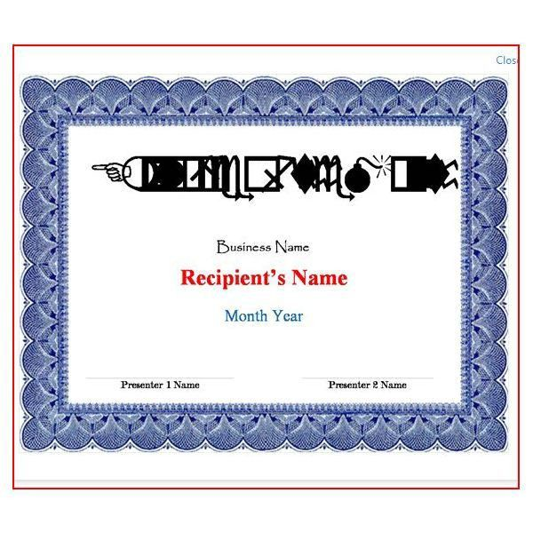 Free Certificate Templates For Word: How To Make Certificates And .