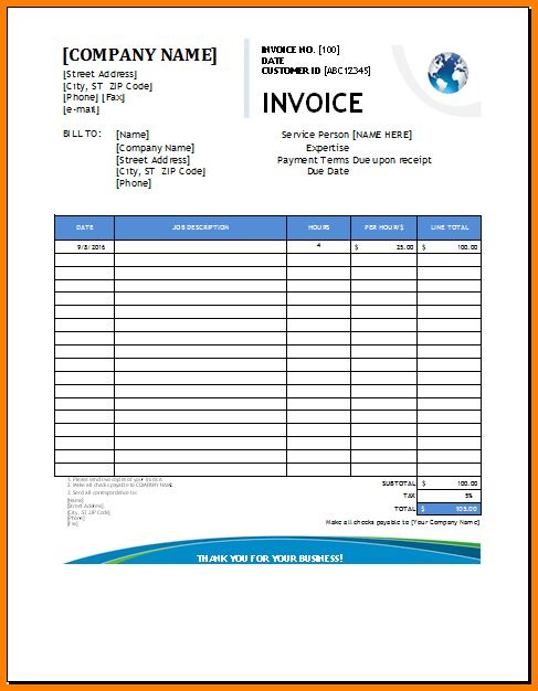 5+ plumbing invoice template | Short paid invoice