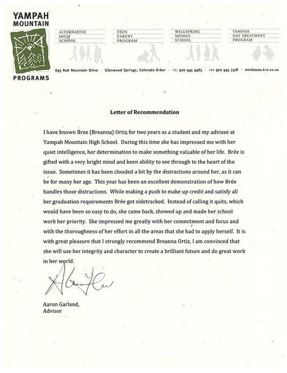 letter of recommendation nurse