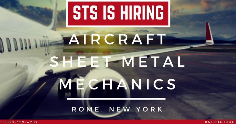 STS Now Offers Aircraft Sheet Metal Mechanic Jobs in Rome, New York
