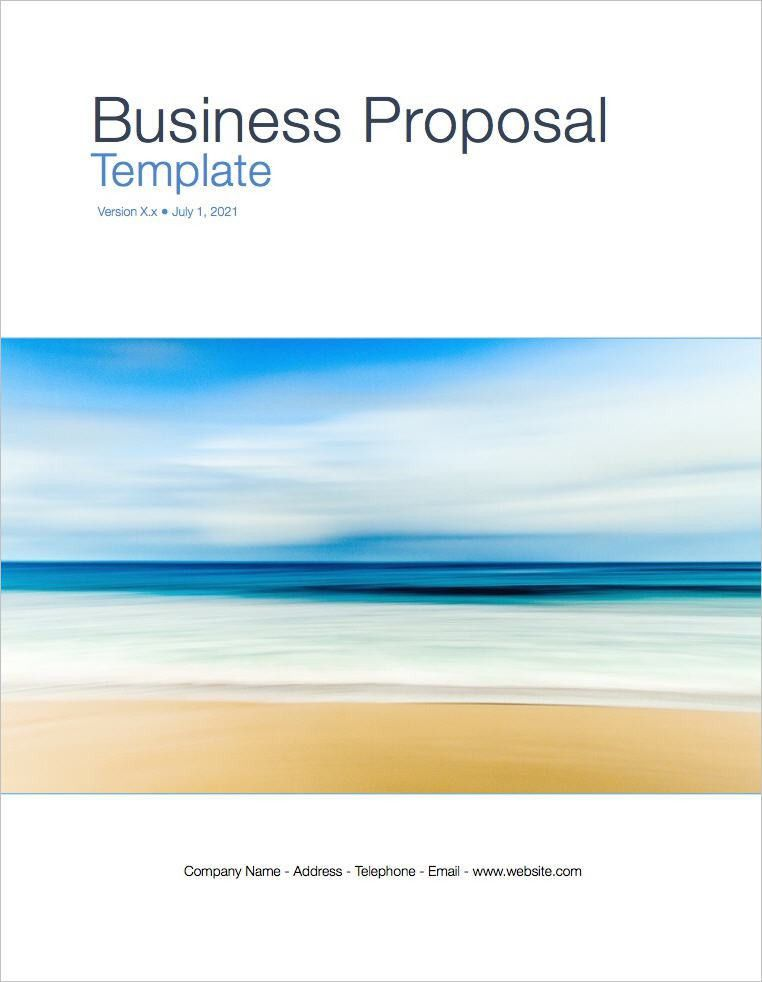 Business Proposal Template (Apple iWork Pages)