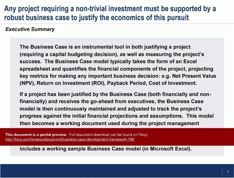 Business Case Development Framework (PowerPoint)