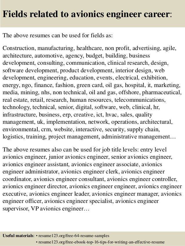 Download Avionics Test Engineer Sample Resume ...