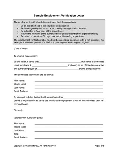 Employment Verification Letter Template: Edit, Fill,Create and Print