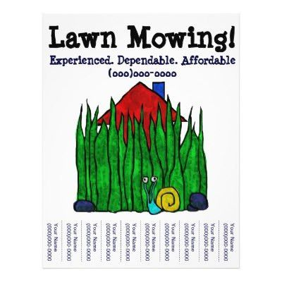 Lawn Care. Landscaping. Mowing. Marketing flyer | Zazzle.com