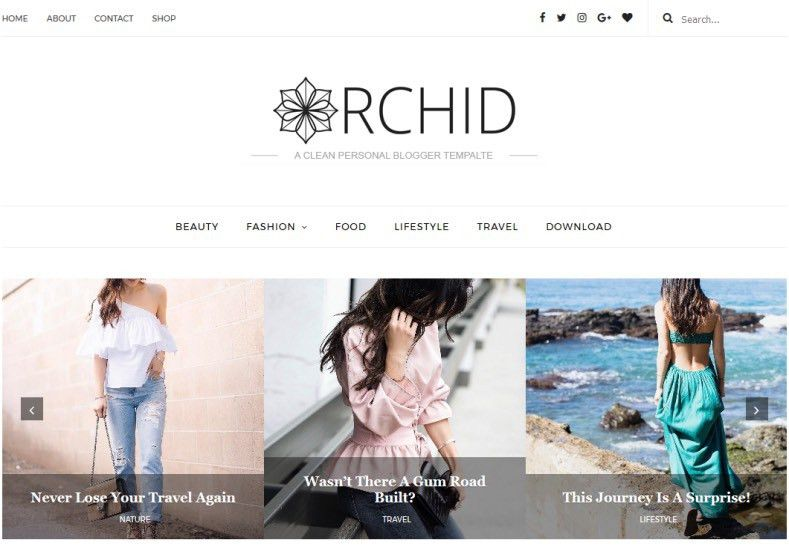 Orchid Fashion Blogger Template • Blogspot Templates 2017