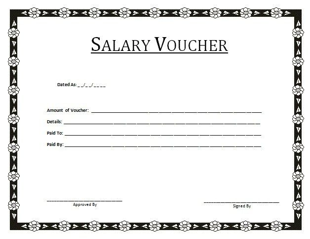 salary voucher template | Best Template & Design Images