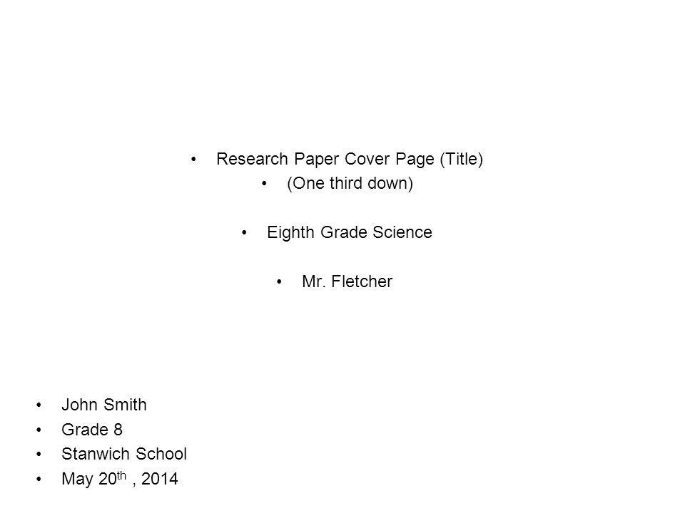 Creating a term paper cover sheet