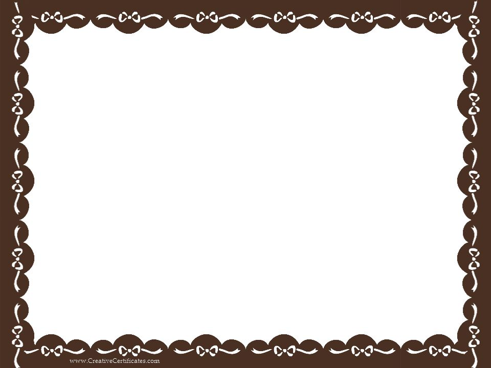 brown-certificate-border.png (960×720) | childminding | Pinterest