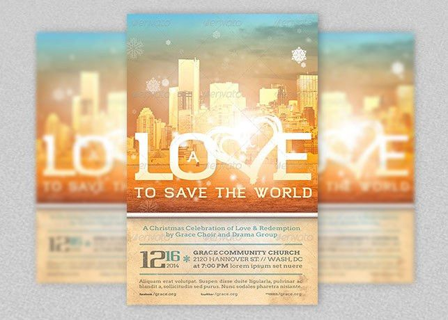 Love to Save Christmas Flyer Template | Godserv Market