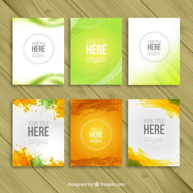 Variety of brochure templates Vector | Free Download