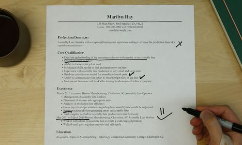 Astonishing Assembly Line Job Description For Resume 59 For How To ...
