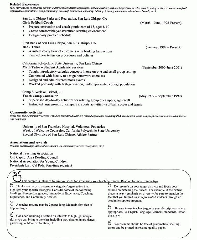 Teacher Recommendation Resume - Best Resume Collection