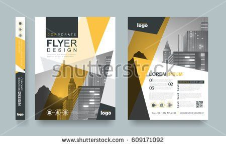 Poster Flyer Pamphlet Brochure Cover Design Stock Vector 568346401 ...