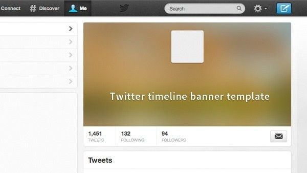 Twitter Timeline Banner Template Free psd in Photoshop psd ( .psd ...
