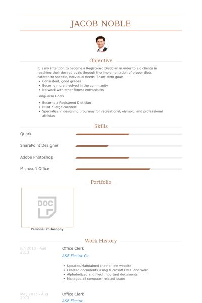 Office Clerk Resume samples - VisualCV resume samples database