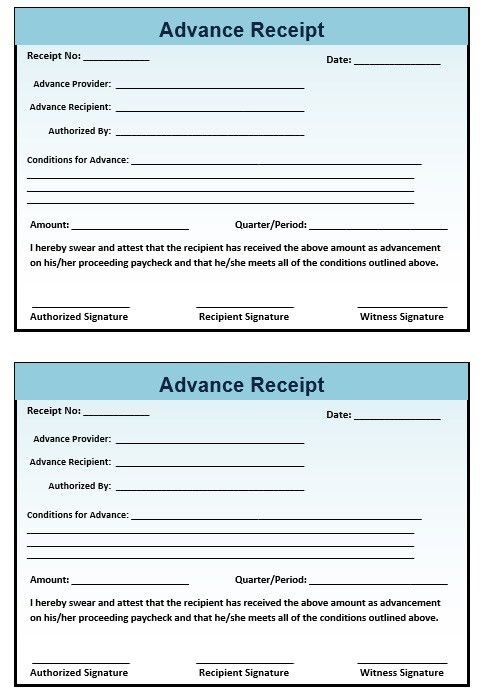 8 Free Sample Advance Booking Receipt Templates – Printable Samples