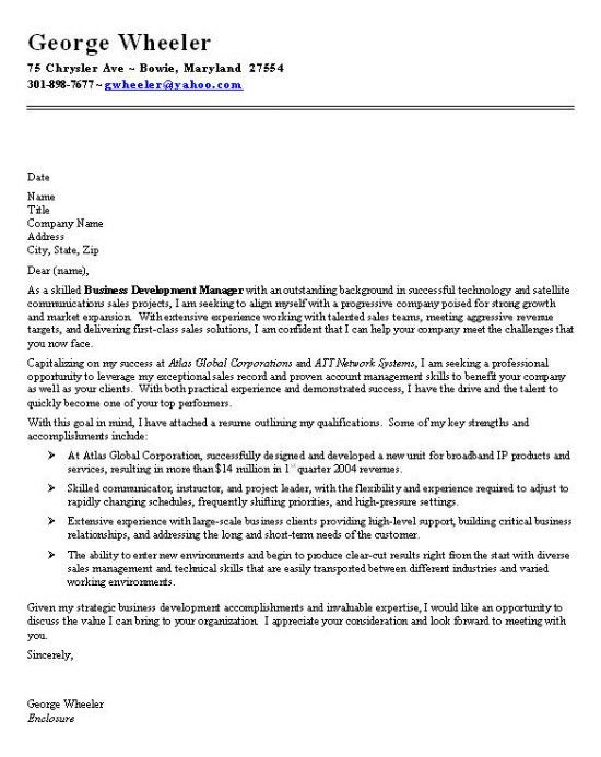 Business Manager Cover Letter Examples