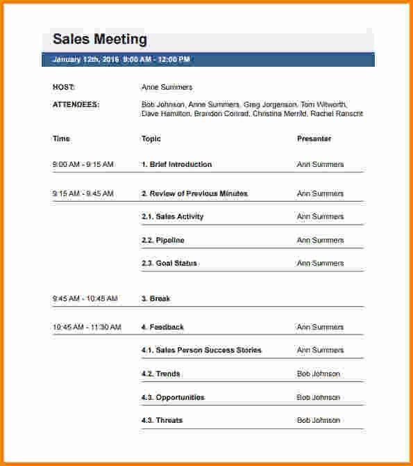 Meeting Plan Template | Jobs.billybullock.us