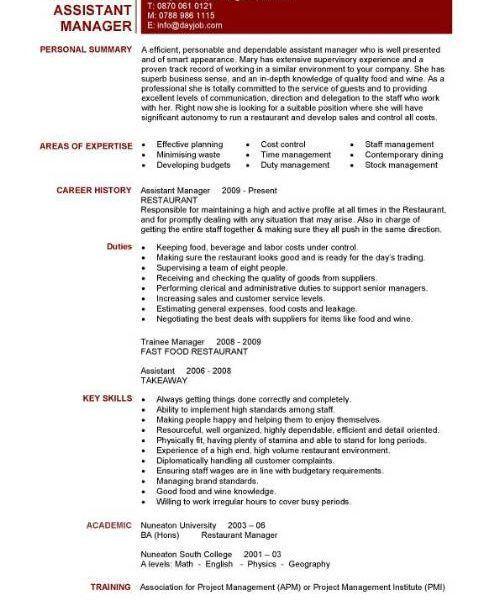 Sensational Design Restaurant Manager Resume Sample 5 Restaurant ...
